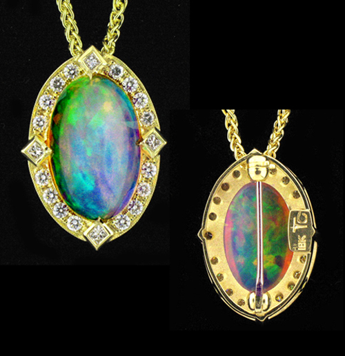 Pendant and necklace selection ethiopian opal mozeypictures Choice Image
